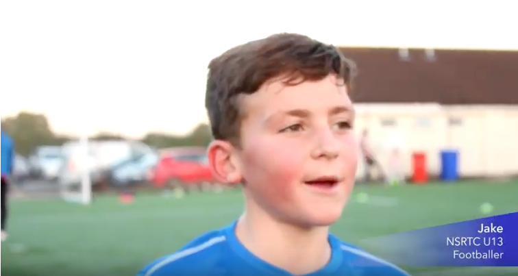 Jake Interview. NSRTC U13's Football player
