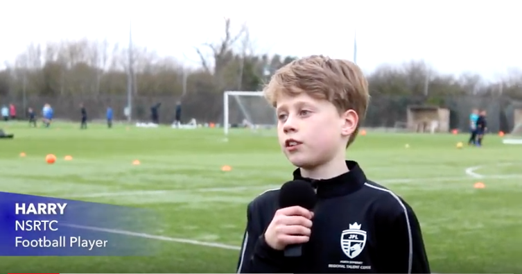 Harry interview: U11 Football Player at NSRTC